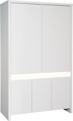 Kleiderschrank Planet White, 5-trg., weiß