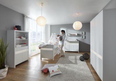 Komplett Kinderzimmer Planet White, 3-tlg. (Kinderbett, Wickelkommode und 5- türiger Kleiderschrank), weiß Gr. 70 x 140