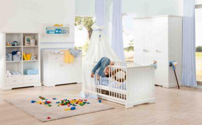 Geuther Komplett Kinderzimmer COTTAGE, 3-tlg. (Kinderbett, Wickelkommode und 3-türiger Kleiderschrank) weiß Gr. 70 x 140