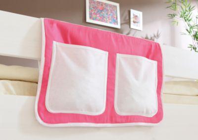 Betttasche Hoch- und Etagenbetten, rosa-weiß Gr. 30 x 50 Kinder