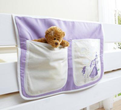 Betttasche Hoch- und Etagenbetten, Pferde lila Gr. 30 x 50 Kinder