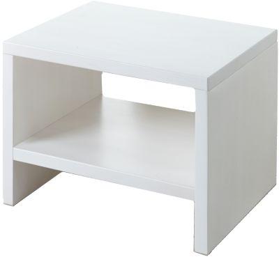 TICAA Nachttisch Harry, Kiefer massiv weiß | Schlafzimmer > Nachttische | Weiß | Kiefernholz - Kiefer - Lackiert | TICAA