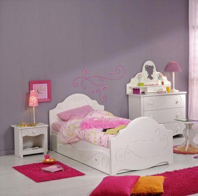 Parisot Einzelbett mit Nako und Schubkasten Alice 3 Weiß weiß Gr. 90 x 200