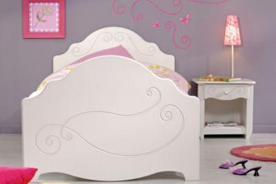 Parisot Einzelbett mit Nako 2-tlg Alice 4 Weiß weiß Gr. 90 x 200