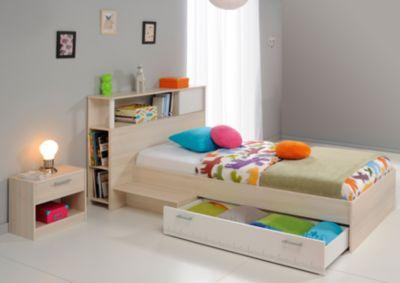 Parisot Jugendbett mit Nako Charly 17 Akazie-Weiß braun/weiß Gr. 90 x 200