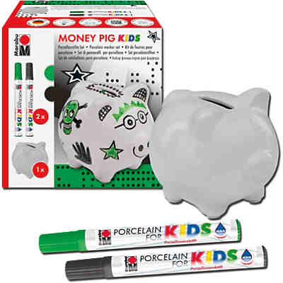 KIDS Porzellanfarbe Kreativset Spardose Money Pig