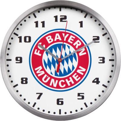 Wanduhr FC Bayern München weiß