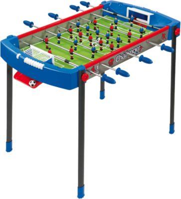 Tischfußball Challenger blau/rot