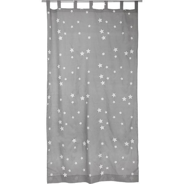 vorhang sterne inkl b gelband grau wei 140 x 245 cm 2 st ck grau yomonda. Black Bedroom Furniture Sets. Home Design Ideas