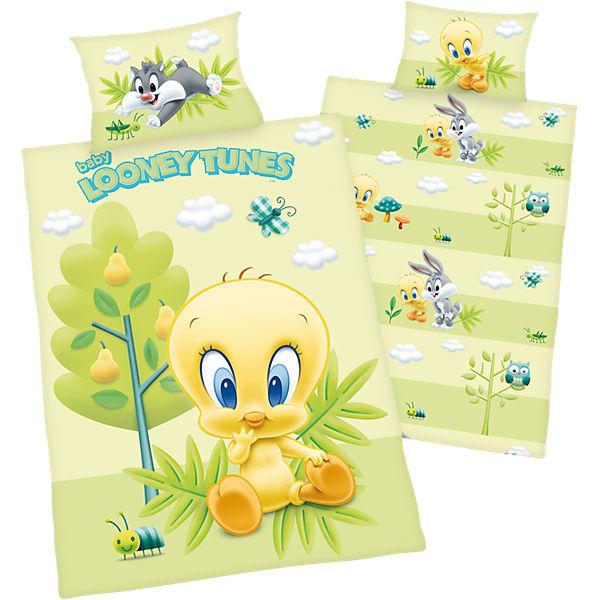 Wende Kinderbettwäsche Looney Tunes Tweety Renforcé 100 X 135 Cm