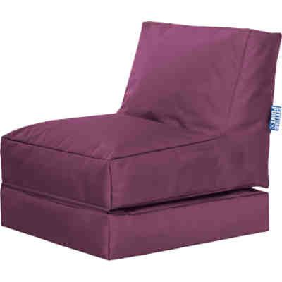 Sessel 2 in 1 Twist SCUBA klappbar, aubergine