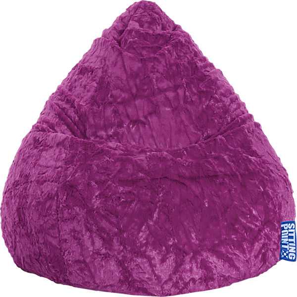 Sitzsack Beanbag Fluffy Xl 70 X 110 Cm Lila Lila Sitting Point