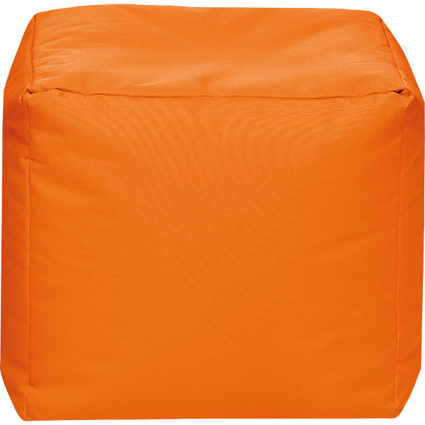 Sitzhocker CUBE SCUBA, 40 x 40 cm, orange