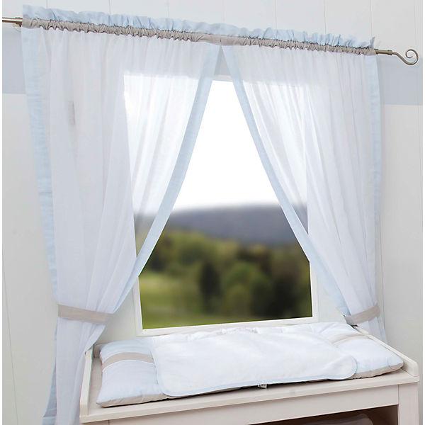 gardinen set kleiner prinz neu blau je 240 x 100 cm 2 schals blau be be 39 s collection. Black Bedroom Furniture Sets. Home Design Ideas