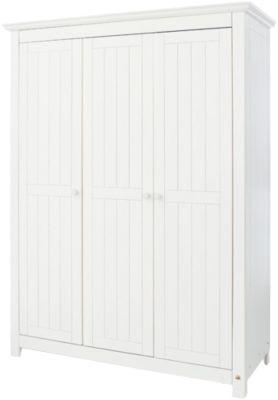 Pinolino Kleiderschrank NINA 3-trg., Fichte weiß lasiert, 142 x 189 cm