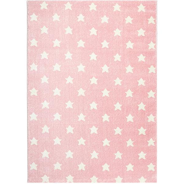teppich litlle stars rosa wei happy rugs yomonda. Black Bedroom Furniture Sets. Home Design Ideas