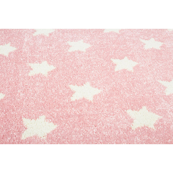 teppich litlle stars rosa wei rosa happy rugs yomonda. Black Bedroom Furniture Sets. Home Design Ideas