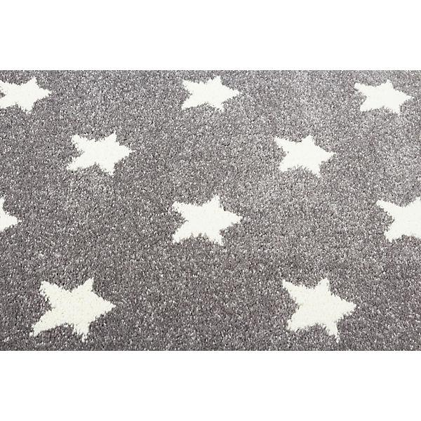 teppich litlle stars silbergrau wei grau happy rugs. Black Bedroom Furniture Sets. Home Design Ideas