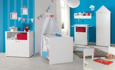Komplett Kinderzimmer LOTTE, 3-tlg. (Kinderbett, Wickelkommode 2-trg.und Kleiderschrank 1-trg.), weiß Gr. 70 x 140