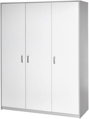 Schardt Kleiderschrank Classic Grey, 3-trg., Nachbildung grau/weiß weiß/grau