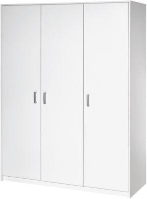 Kleiderschrank Classic White, 3-trg., Dekor weiß