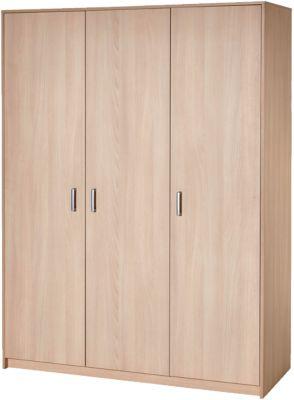 Kleiderschrank Classic Buche, 3-trg., Holzdekor Buche holzfarben