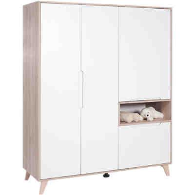 kleiderschrank fresh 3 t rig weiss wei geuther yomonda. Black Bedroom Furniture Sets. Home Design Ideas