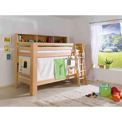 vorhangset f r spielbett inkl hakenband magnum beni und jan dschungel gr n relita yomonda. Black Bedroom Furniture Sets. Home Design Ideas
