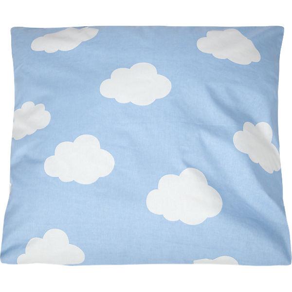 kinderbettw sche wolken cretonne blau 135 x 200 cm. Black Bedroom Furniture Sets. Home Design Ideas