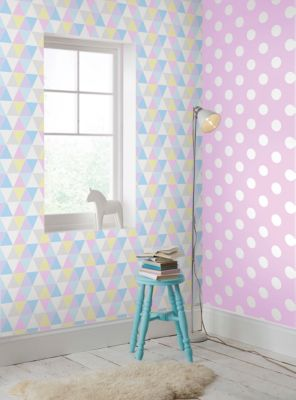 Tapete Harlequin pastellfarben, 10 m x 53 cm