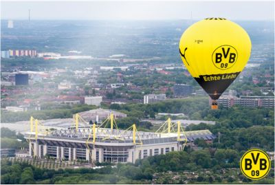 Wandbild BVB Signal Iduna Park Heißluftballon, ...