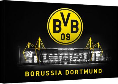 Leinwandbild BVB Signal Iduna Park bei Nacht, 1...