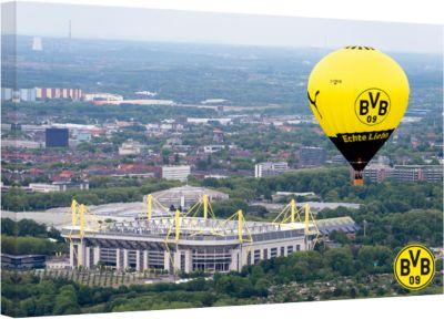 Leinwandbild BVB Signal Iduna Park Heißluftball...