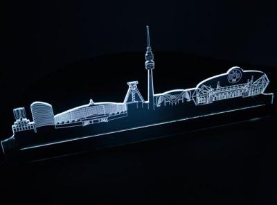 LED-Stadtlicht BVB Dortmund Skyline, weiß, 50 cm