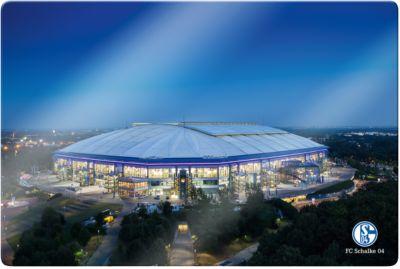 Wandbild FC Schalke 04 - Arena 02, Glas, 60 x 4...