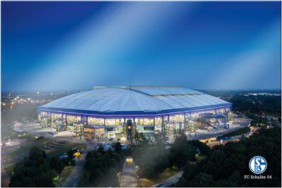 Wandbild FC Schalke 04 - Arena 02, Acrylglas, 1...