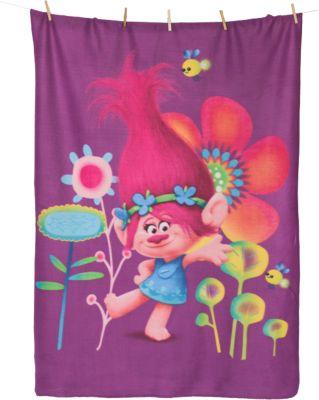 Kuscheldecke Trolls Poppy, 110 x 140 cm pink
