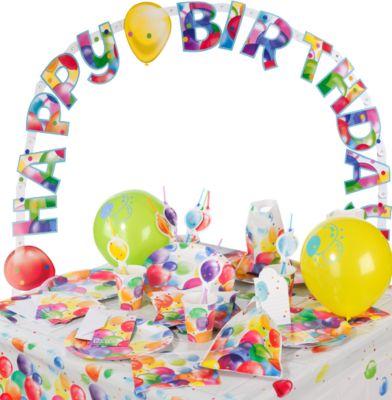 Partyset Balloons, 68-tlg. mehrfarbig