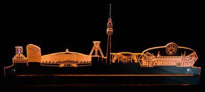 LED-Stadtlicht BVB Dortmund Skyline, gelb, 50 cm