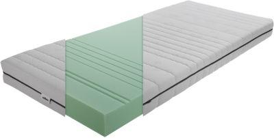 TICAA 7 Zonen Matratze, Med Spezial Plus, 90 x 200 cm weiß