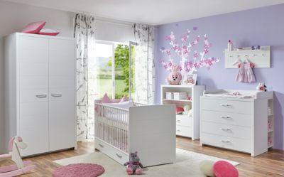 Komplett Babyzimmer Mia, 5-tlg., weiß Gr. 70 x 140