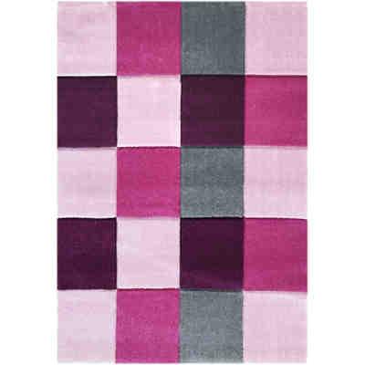teppich star rosa wei rund happy rugs yomonda. Black Bedroom Furniture Sets. Home Design Ideas