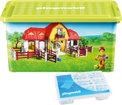 Aufbewahrungsbox XL Farm grün
