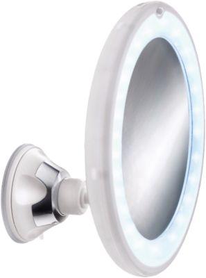 Kleine Wolke LED Kosmetikspiegel Flexy Light mit Saugbefestigung, 5-fach Vergrößerung weiß | Bad > Bad-Accessoires > Kosmetikspiegel | Kleine Wolke
