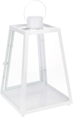 Laterne ´´BrightNight´´ H38 cm weiß