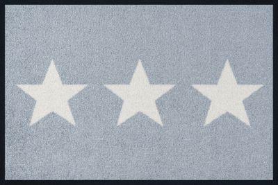Fußmatte ´´Design Stars´´ grau Gr. 70 x 120