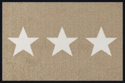 Fußmatte ´´Design Stars´´ beige Gr. 40 x 60