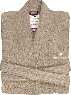 TOM TAILOR Frottier-Bademantel ´´Kimono´´ beige Gr. 40/42