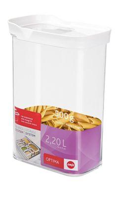 Emsa Schütt Vorratsdosen Optima mit Schiebedeckel 2,2 L weiß | Küche und Esszimmer > Aufbewahrung > Vorratsdosen | Emsa