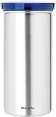 Edelstahl Vorratsdosen 18 Kaffeepads und Teebeutel blau/silber Erwachsene